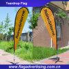 Bandiera su ordinazione della spiaggia di disegno libero di stampa di colore completo, bandiera del Teardrop