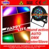 Diodo emissor de luz PAR36 DMX Light do RGB Indoor para o disco