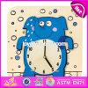 새로운 디자인 만화 취학 전 아이 나무로 되는 가르치는 시계 W14k015