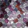 Uccelli di cristallo di LoRainbow Flourite Cubevely con la ciotola