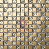 Goldene Glastitankristallmosaik-Fliese (TC327)