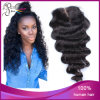 Fechamento frouxo do laço da onda do cabelo brasileiro do Virgin