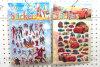 Etiqueta engomada hinchada de la esponja de la historieta 3D del PVC, etiquetas engomadas de la historieta de los niños