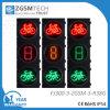 درّاجة أحمر خضراء مع ثلاثة ألواح عدّ تنازليّ حركة مرور [لد] إشارات