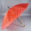 Durable16 provee de costillas el paraguas recto plástico del gancho de leva