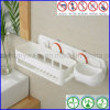 Stanza da bagno Corner Rack con Soap Dish come Bathroom Storage Shelf