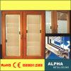 Guichet en verre creux en aluminium de tissu pour rideaux avec la série intrinsèque 55 d'obturateur