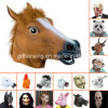 경이롭게 Disturbing와 Oversized Latex Animal Head Masks
