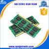 Stock RAM DDR3 8GB компьтер-книжки 512mbx8 16c Unbuffered