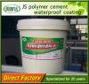 Enduits de revêtement imperméables à l'eau de Js de la colle modifiés par polymère de résistance aux intempéries