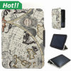 World magnético Map Design Hard Shell Laptop Cover para el Amazonas Kindle Fire HD
