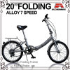 20 Drehzahl-faltendes Fahrrad der Inch-preiswerte Legierungs-7 (WL-2015A)