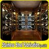 최신 판매에 의하여 주문을 받아서 만들어지는 스테인리스 벽 포도주 저장 선반