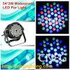 Hoge IP Waterproof 54*3W RGBW LED PAR