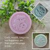 Suerte, abundancia, longevidad y felicidad del carácter chino como moldes del jabón del silicón del regalo