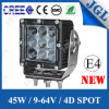 4D Auto LED Work Light 45W LED Car Light LED Lampe de travail