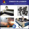 La tela de la maquinaria de la materia textil etiqueta la cortadora del laser con la alimentación auto