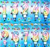 0-9 o número cor-de-rosa Candles a vela pintada arte pintada vela do número das velas do número do feliz aniversario da vela do número de arte da vela de Digitas Digitas (FH1810223)