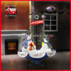 Christmas di nevicata Decoration con il pupazzo di neve Family LED Lights e Music