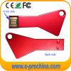 Bewegliches buntes Schlüssel USB-Blitz-Laufwerk mit Laserdruck-Firmenzeichen (ET366)