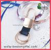 Neue Produkte ledernes Keychain kundenspezifisches Selbstmetallschlüsselkette