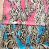 Pelle di serpente Satin&Silk di seta stampato disegno Ggt