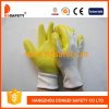 Ddsafey 2017 13 перчаток многоточий белого Nylon желтого нитрила датчика миниых