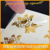 金の花の形のステッカー(BLF-S078)