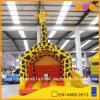 Giraffe amarelo inflável fora do Bouncer (AQ674)