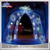 Luz al aire libre del día de fiesta del arco LED de la Navidad de la decoración de la calle