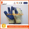 Связанные перчатки Dcl316 безопасности перчатки синих хлопков резиновый Coated