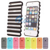 Ladder duro Shape Hollow fuori Stripe Matte Argomento Cover per il iPhone 5 (IP5G-078)