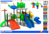 2015 Kindergarten Kids Outdoor Play Toys with Slides and Swing