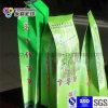 Sachet à thé latéral de vert d'empaquetage en plastique de gousset