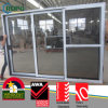 3 pannelli UPVC Frame Sliding Glass Door con Double Glazing