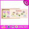 2015 nuovo Item Wholesale Wooden Domino Toy, Wooden Domino per Divent Kids Brain, Domino di Children Games in Wooden Caso W15A027