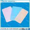 Lamiera sottile riutilizzabile trasparente medica della cicatrice del silicone