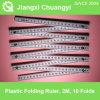 La regla de plegamiento plástica, 2 mide, 10 secciones, clase III