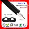 2 cable óptico aéreo plano de fibra de la base LSZH/PVC FTTH
