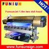 De Goedkope Oplosbare Printer Eco van Funsunjet fs-1802g (DX5 hoofd, 1440dpi, de prijs van de Bevordering nu)