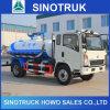 Caminhão de tanque da sução da água de esgoto do vácuo de HOWO 5m3 para a venda