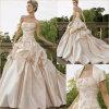 熟練した手細工のボレロ(RJ0007)が付いているストラップレスの注文の婚礼衣裳