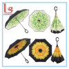자동적인 똑바로 꽃 뒤집혀진 일요일 우산