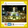 Fontana di acqua ornamentale nello stagno di figura del fiore