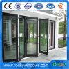 Окно утесистой конструкции хорошего качества изготовлений Китая новой складывая