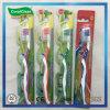 La brosse à dents des adultes de soin personnel avec le traitement antidérapage