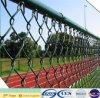 Cercado del acoplamiento de cadena de la cerca de la tierra de deportes del recubrimiento plástico