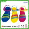 Los zapatos más nuevos 2014 de la sandalia de la muchacha del plástico (RW24037E)