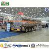 O petroleiro Diesel personalizado do combustível do transporte do petróleo fixa o preço do reboque do tanque do caminhão Semi