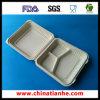 Envase de alimento biodegradable de tres Coms (THH-08)